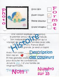 Carte d'identité peluches Création France Fabule